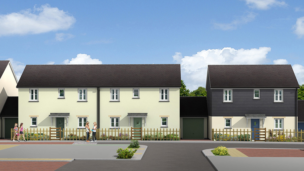 New homes at St Anns Chapel, Gunnislake