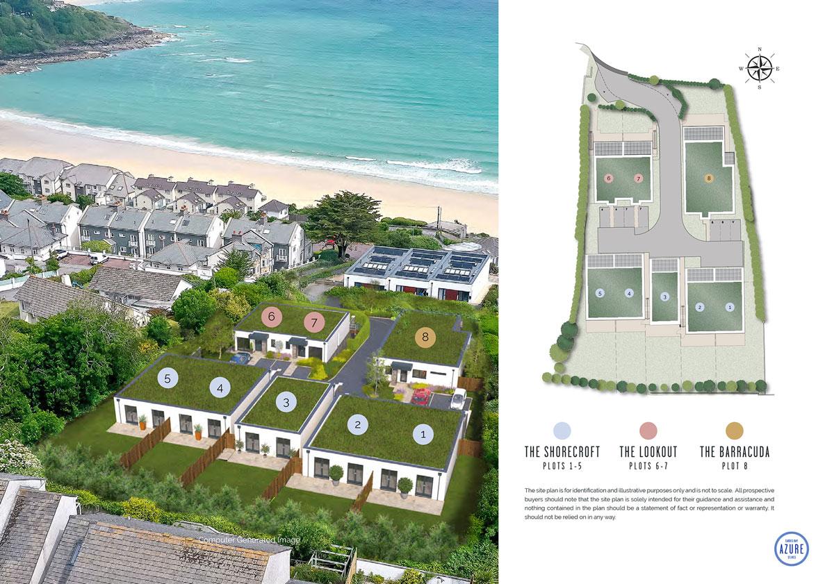 Azure New Homes Development - Site Layout