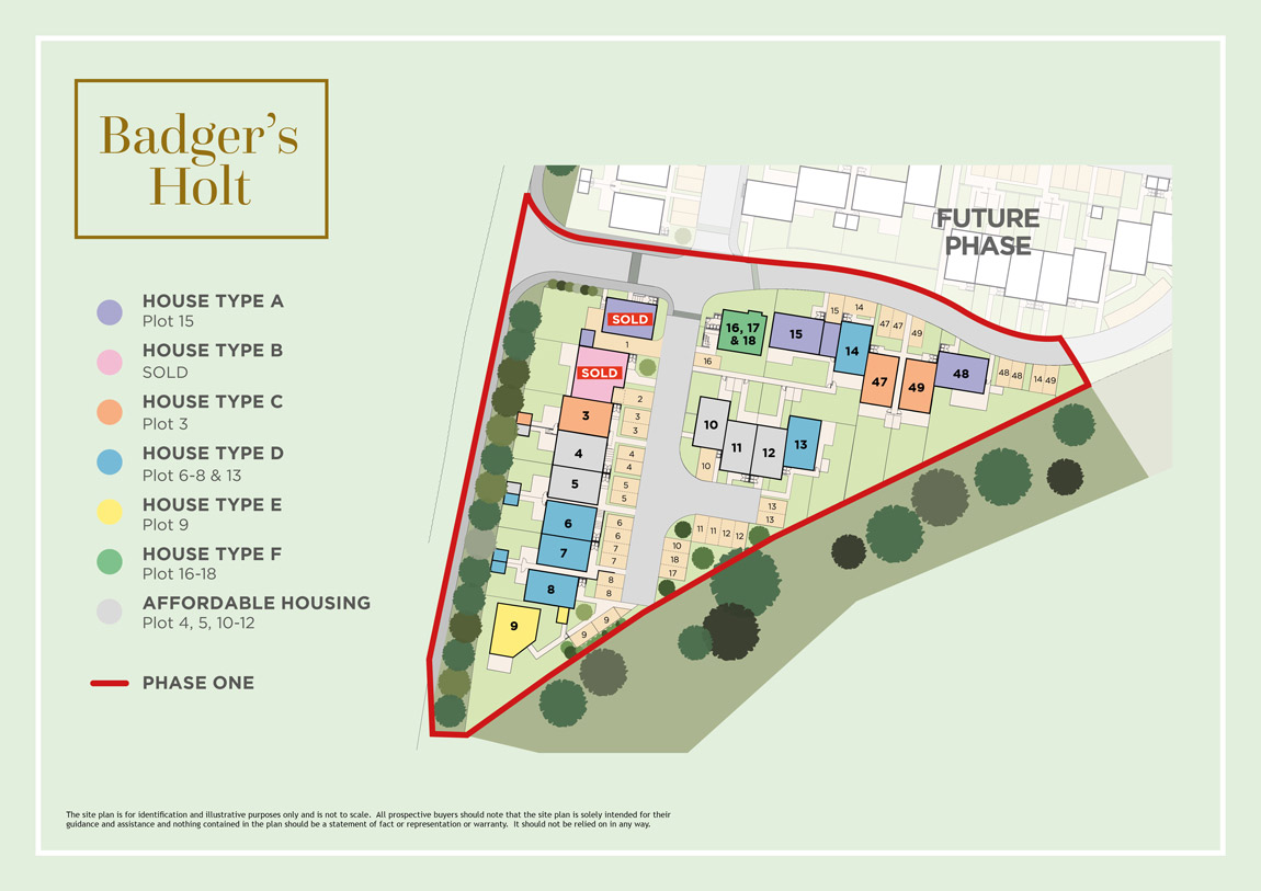 Badgers Holt New Homes Development - Site Layout