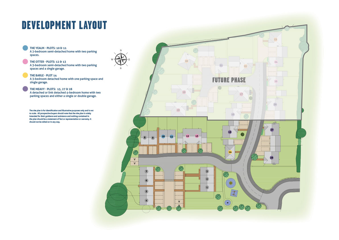 Barley Meadows New Homes Development - Site Layout