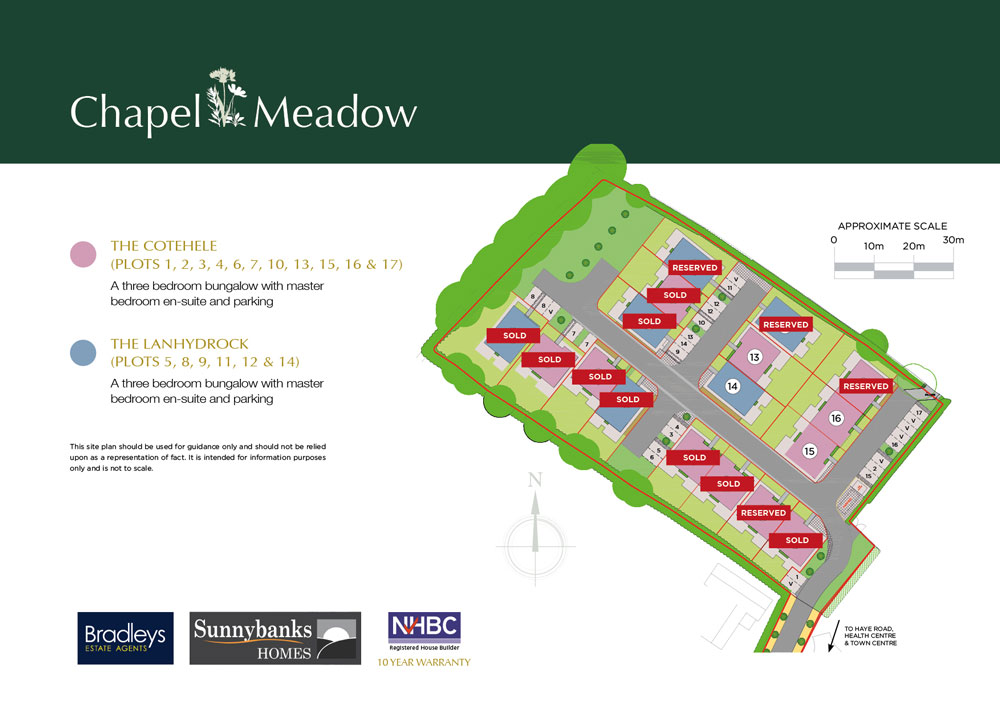 Chapel Meadow New Homes Development - Site Layout