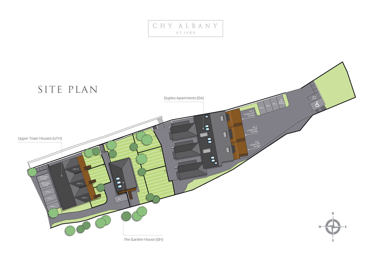 Chy Albany New Homes Development - Site Layout