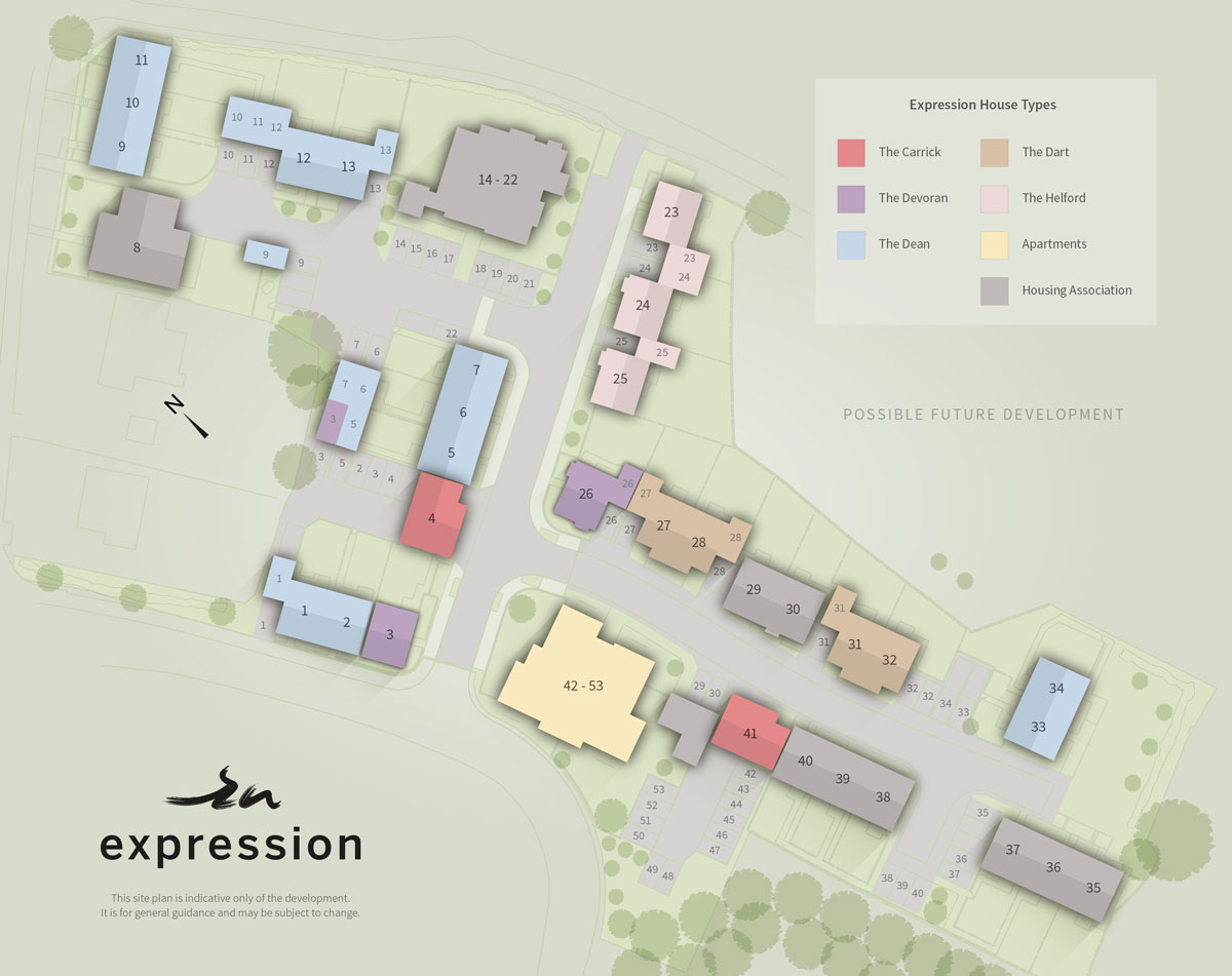 Expression New Homes Development - Site Layout