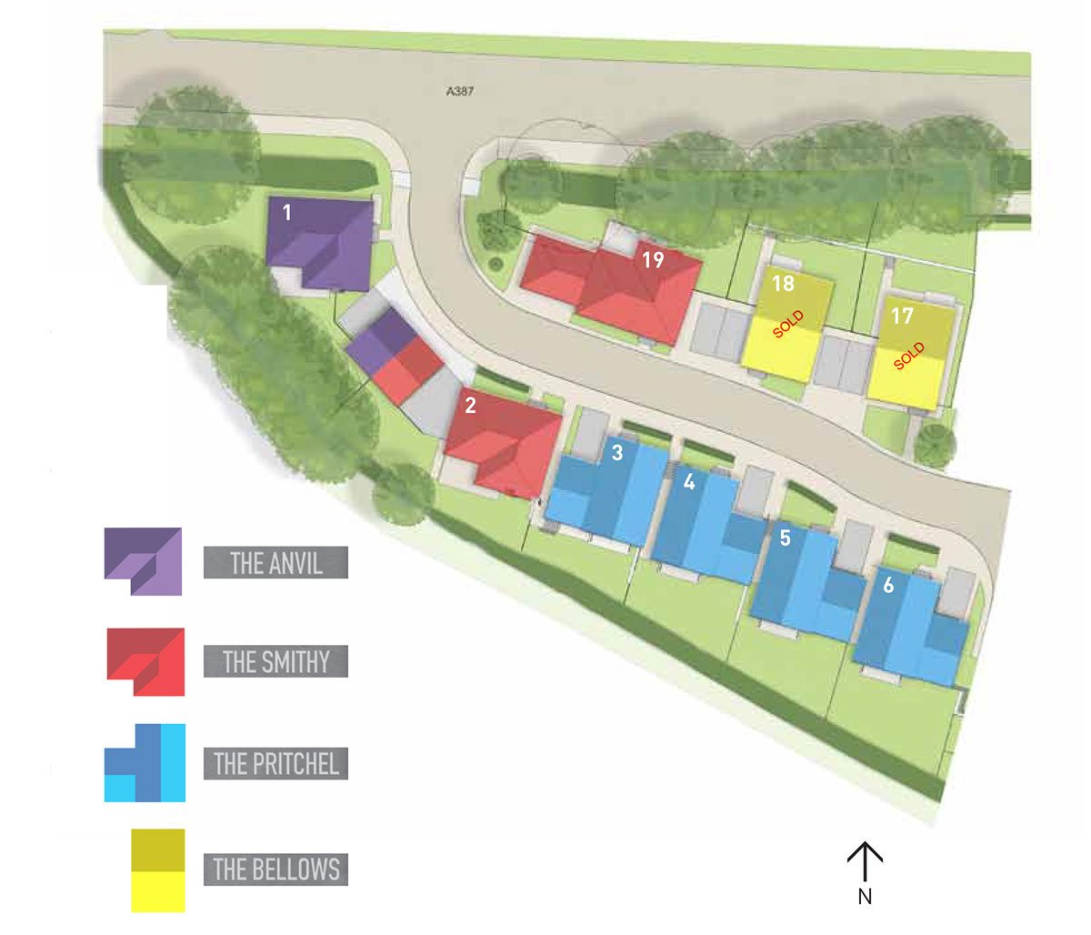 Farriers Way  New Homes Development - Site Layout