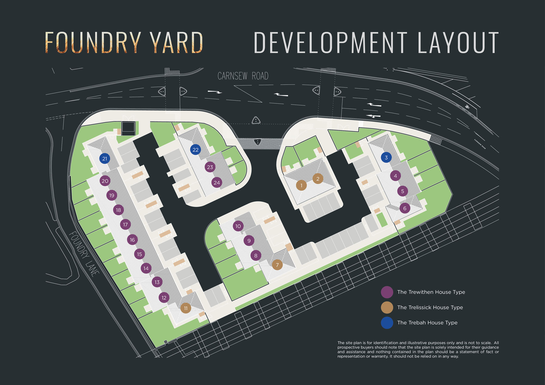 Foundry Yard New Homes Development - Site Layout