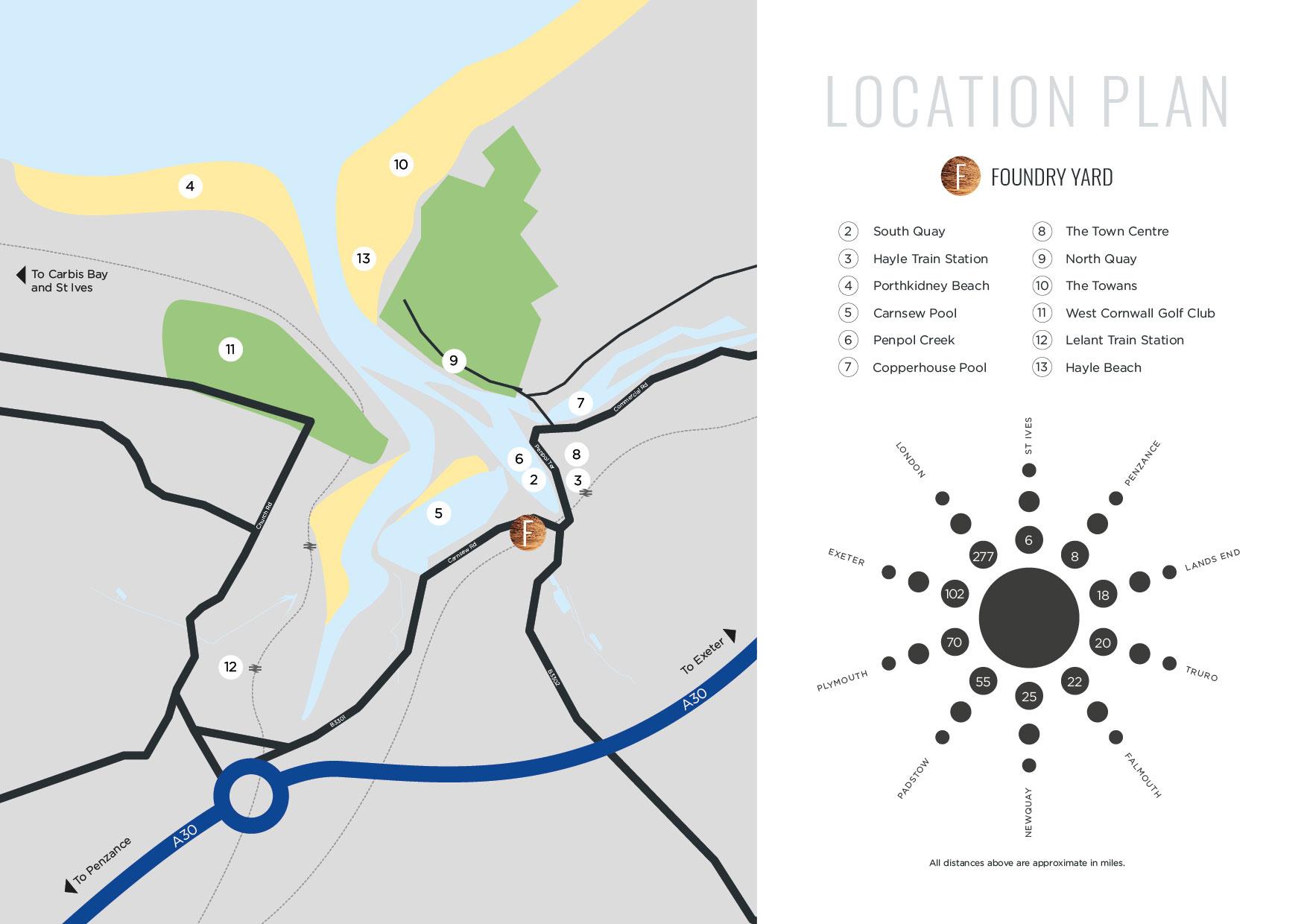 Foundry Yard New Homes Development - Site Location
