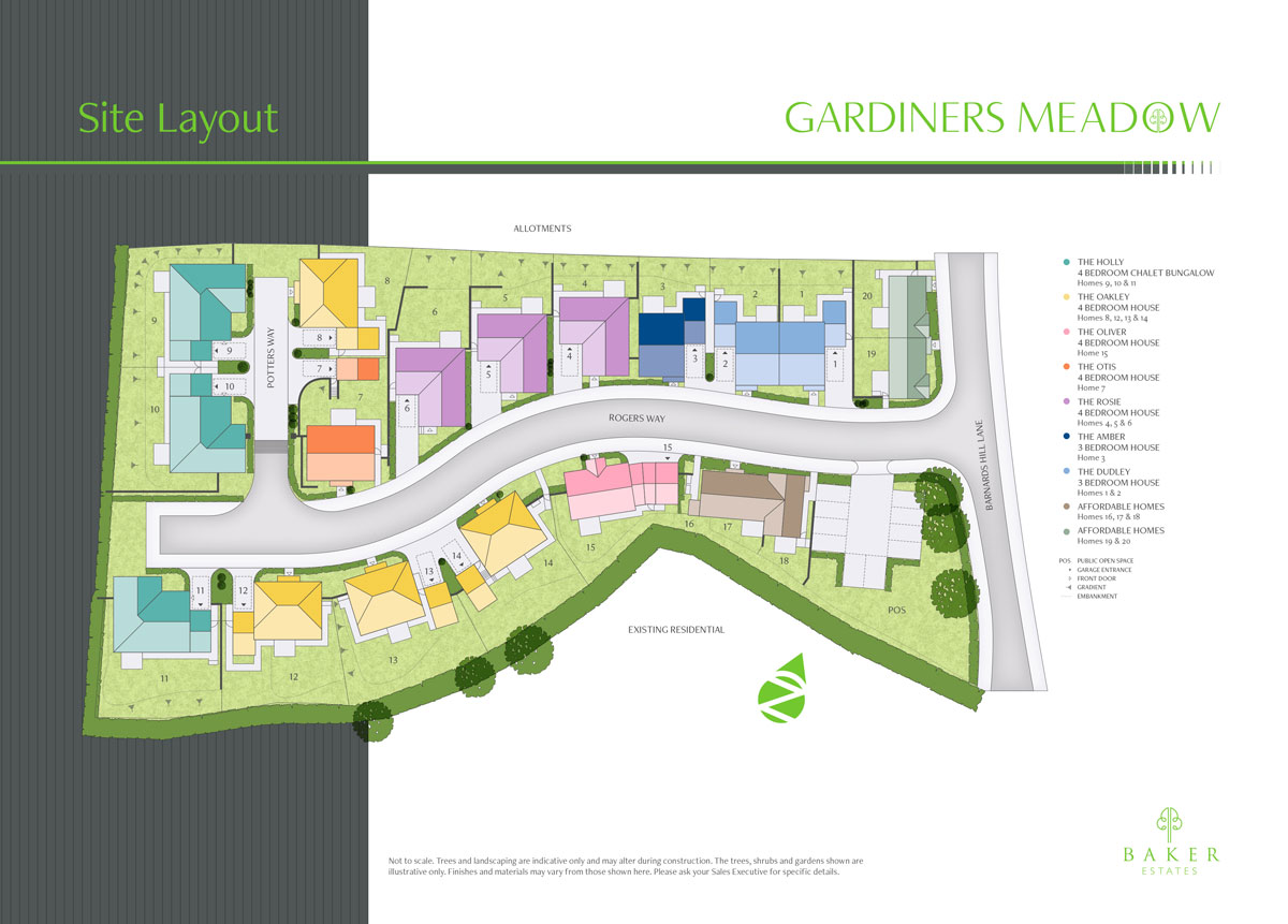 Gardiners Meadow New Homes Development - Site Layout