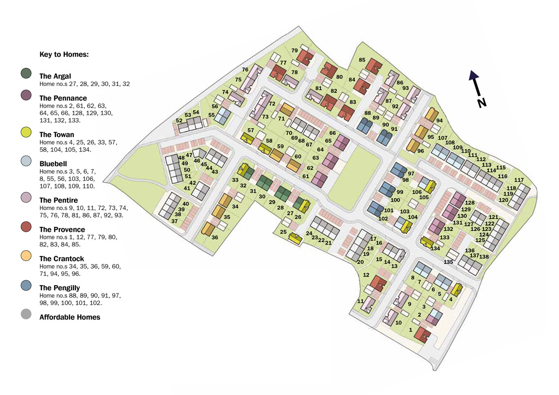 Godrevy Parc New Homes Development - Site Layout