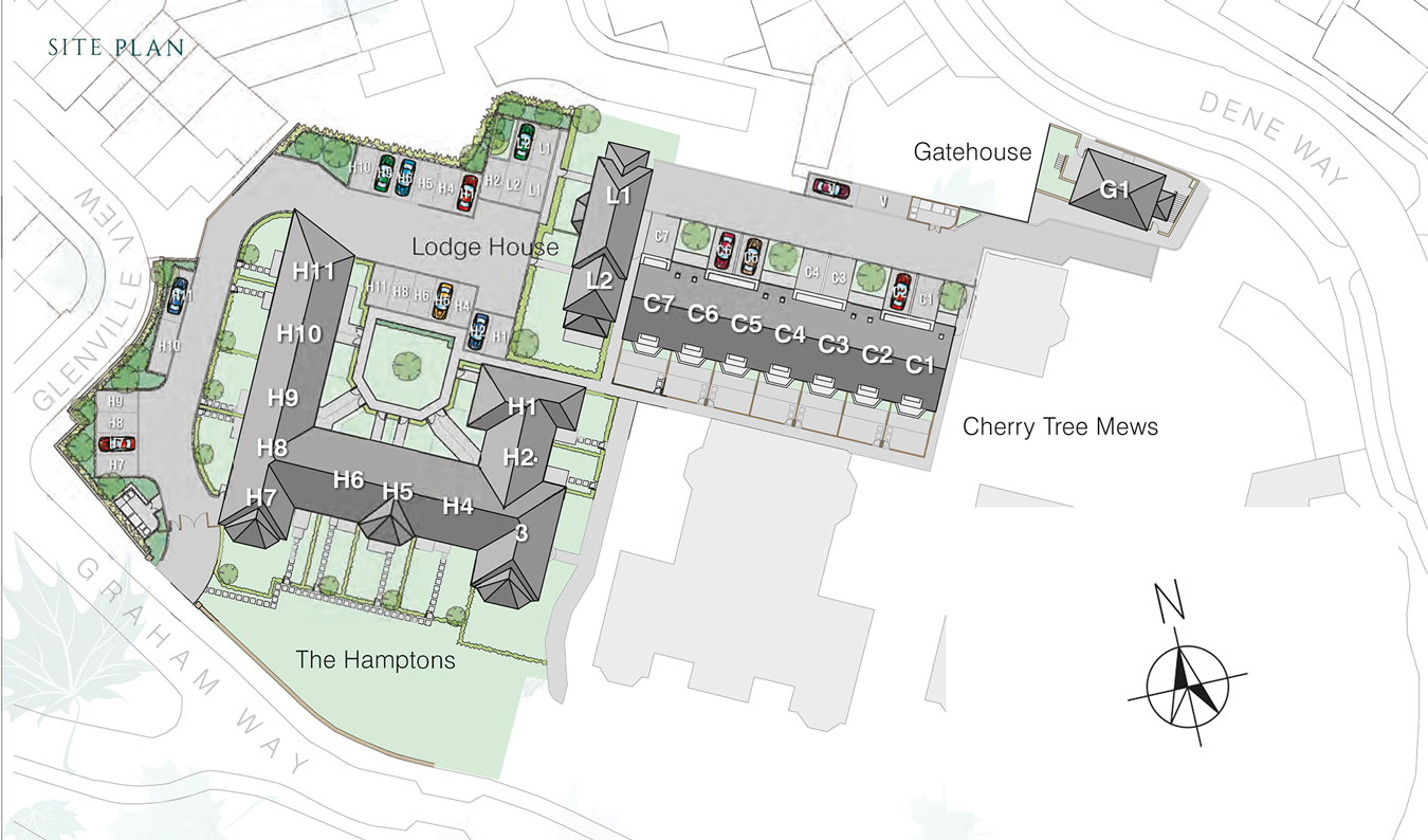 The Hamptons New Homes Development - Site Layout