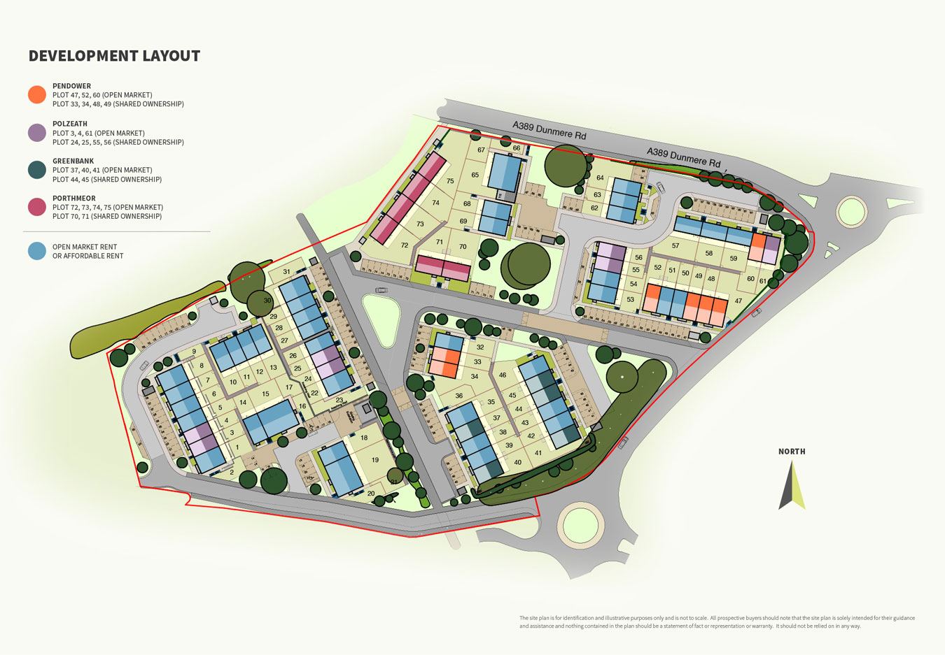 Heathlands View New Homes Development - Site Layout