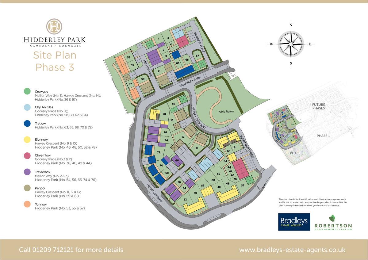 Hidderley Park New Homes Development - Site Layout