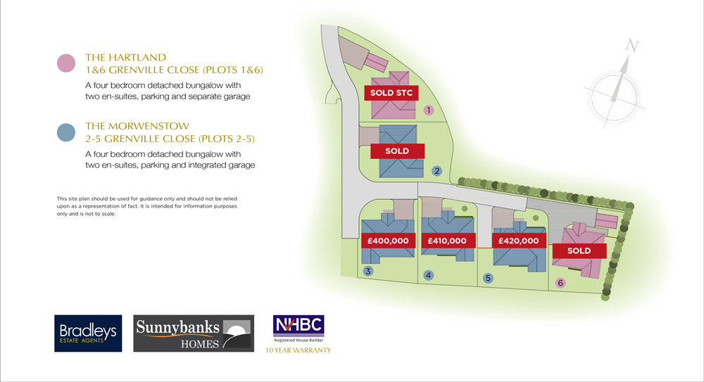 Kew Grenville New Homes Development - Site Layout