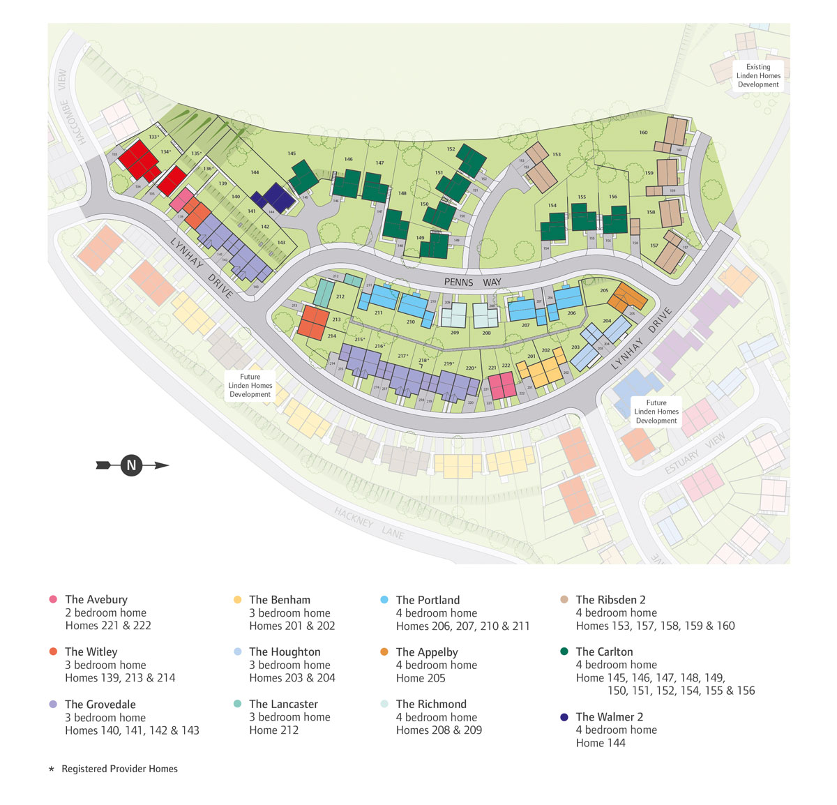Kings Gate Newton Abbot New Homes Development - Site Layout