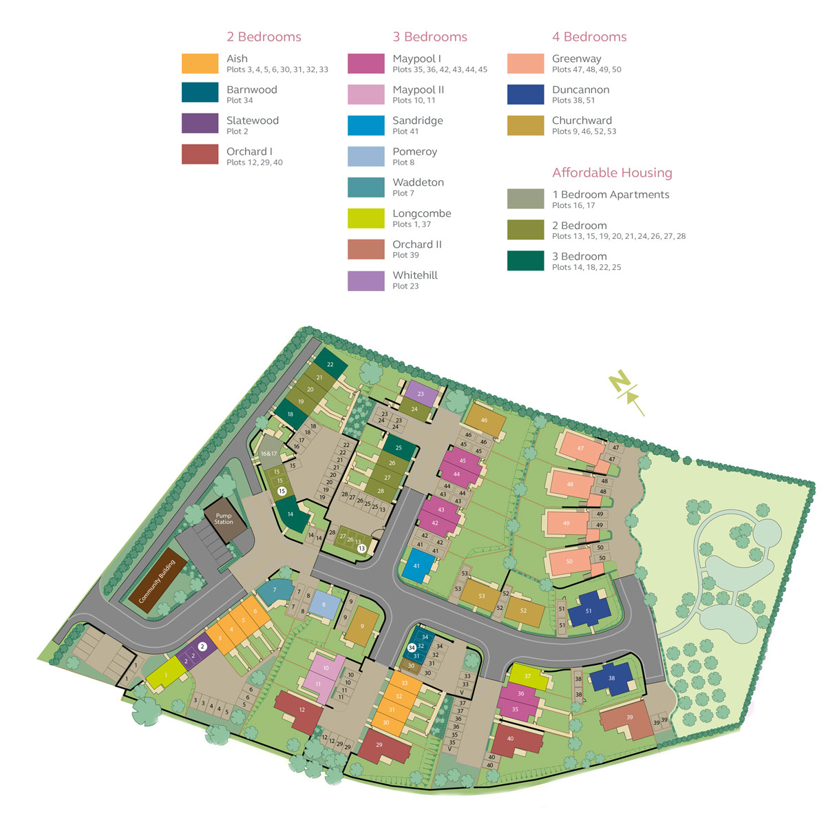 Kings Orchard, Stoke Gabriel New Homes Development - Site Layout