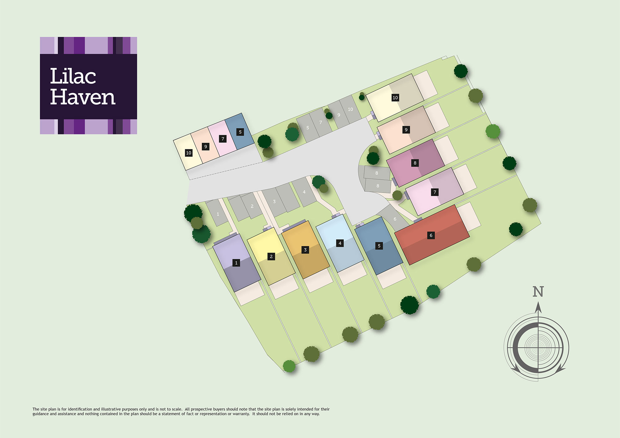 Lilac Haven New Homes Development - Site Layout