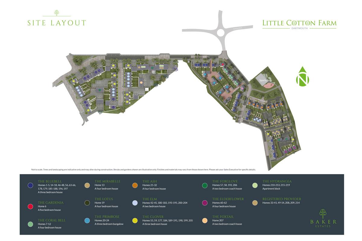 Little Cotton Farm New Homes Development - Site Layout