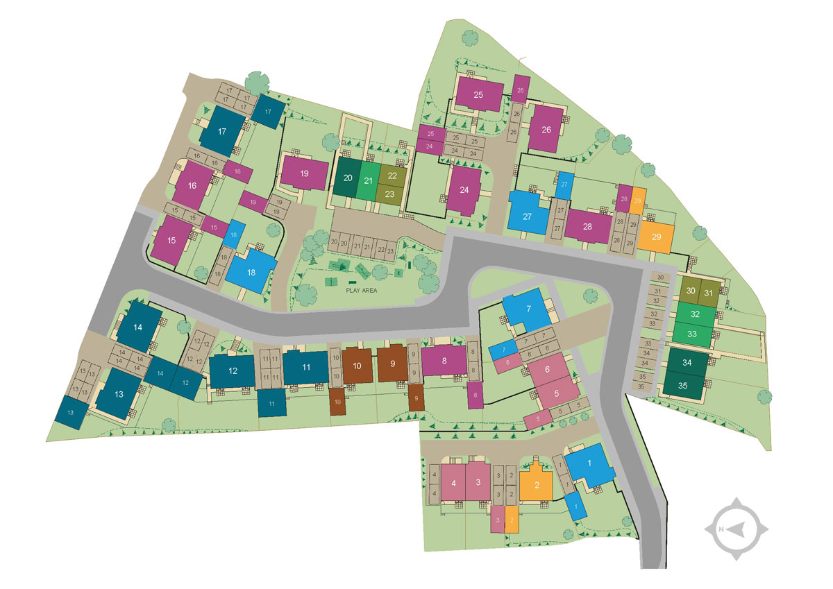 Lyme View New Homes Development - Site Layout
