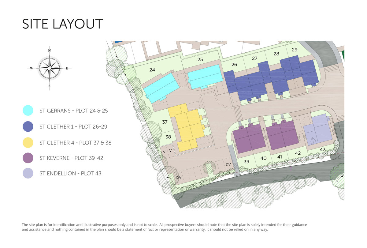 The Market Garden New Homes Development - Site Layout