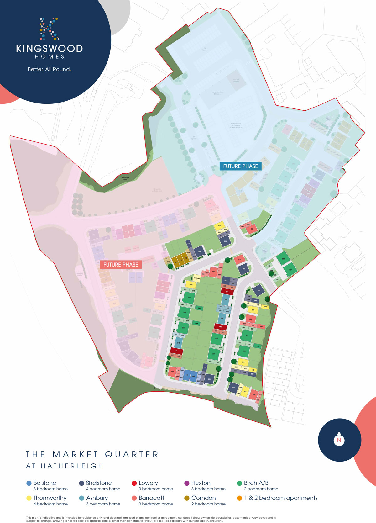 The Market Quarter New Homes Development - Site Layout