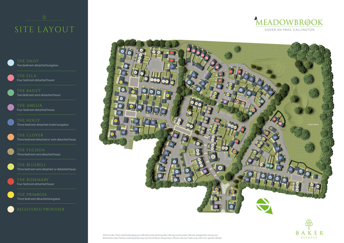 Meadowbrook New Homes Development - Site Layout