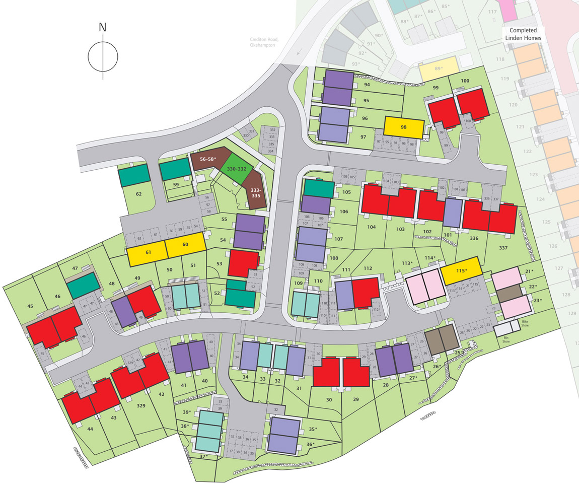 Meldon Fields New Homes Development - Site Layout