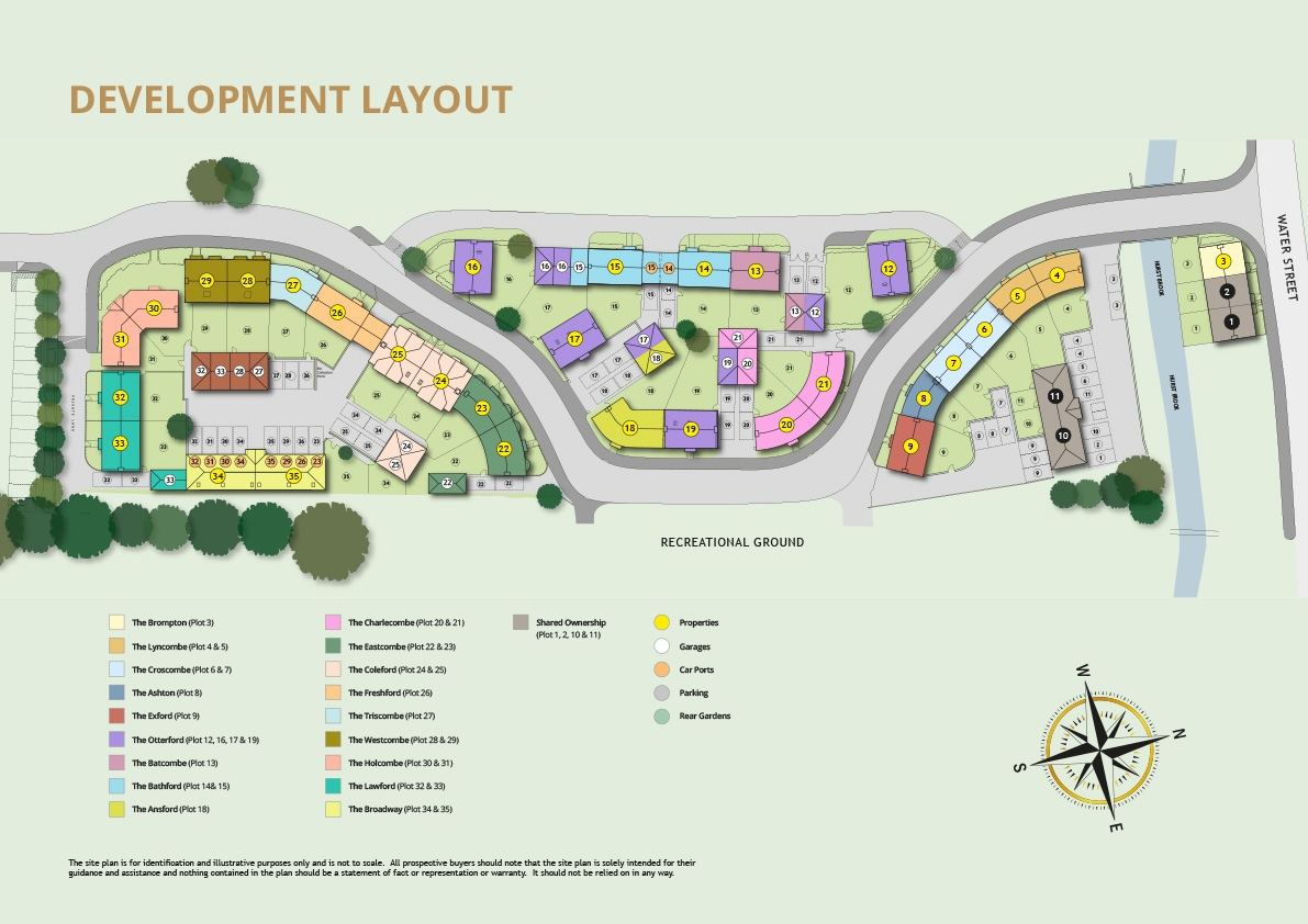 Mertoch Leat New Homes Development - Site Layout