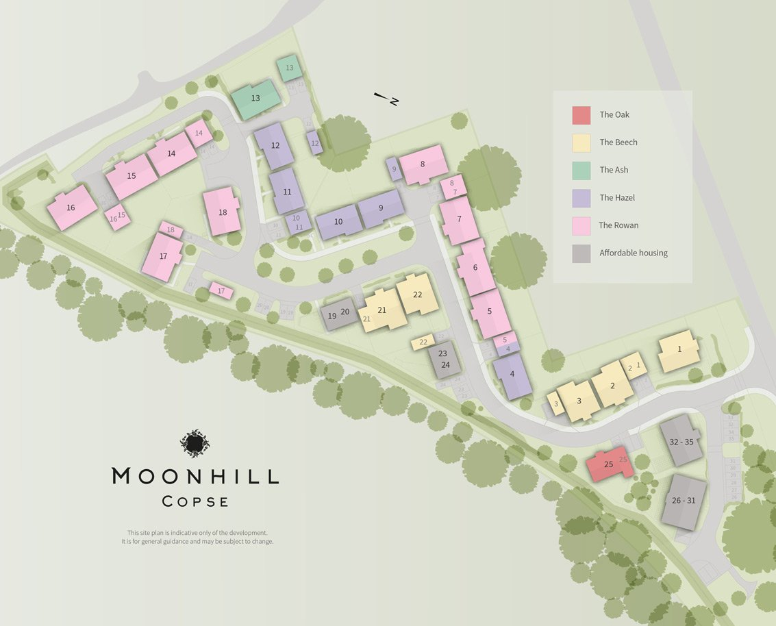 Moonhill Copse New Homes Development - Site Layout