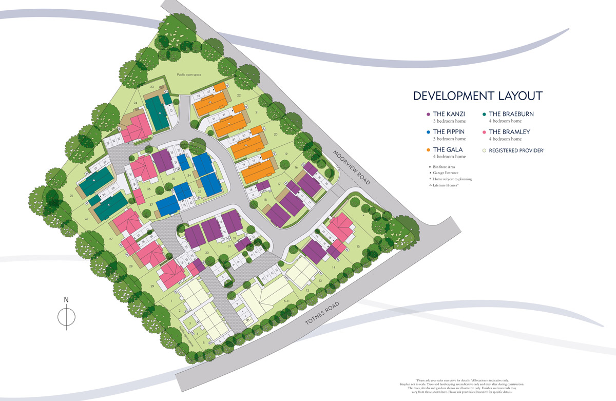 Moorview New Homes Development - Site Layout