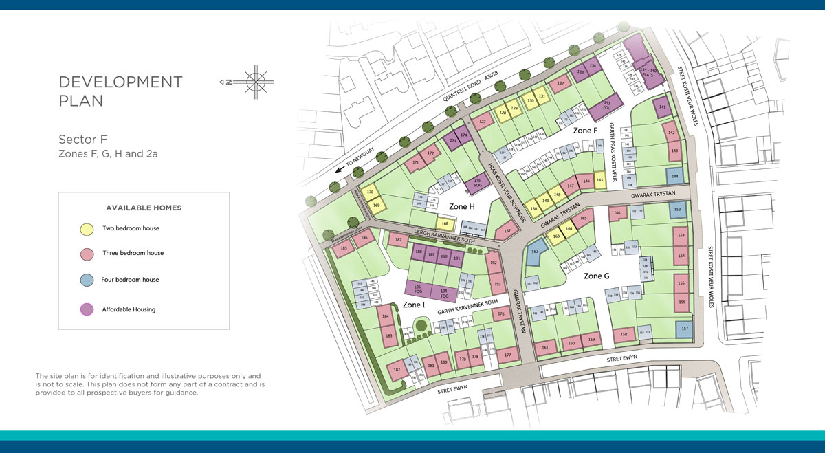 Nansledan New Homes Development - Site Layout