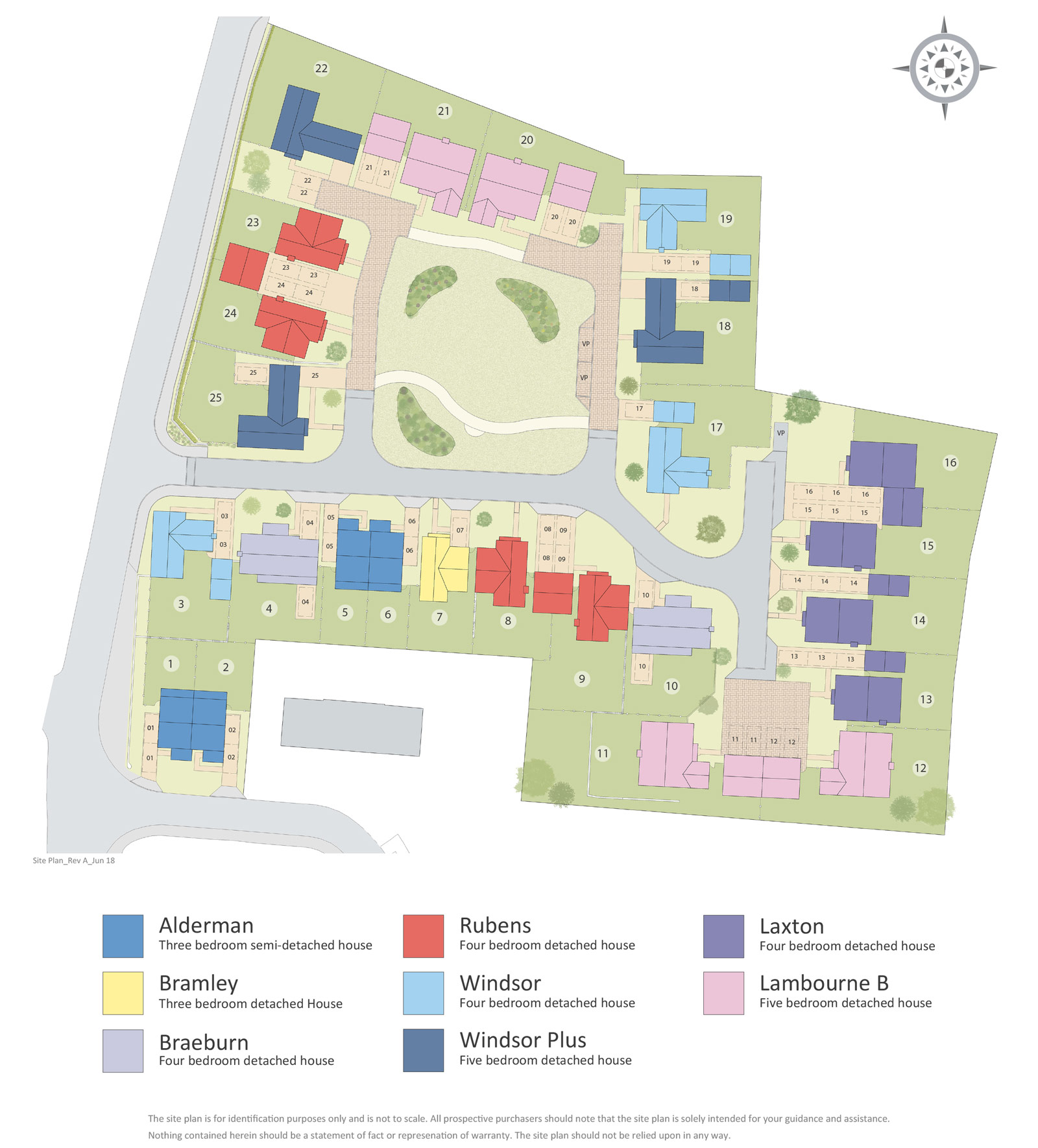 Orchard View New Homes Development - Site Layout