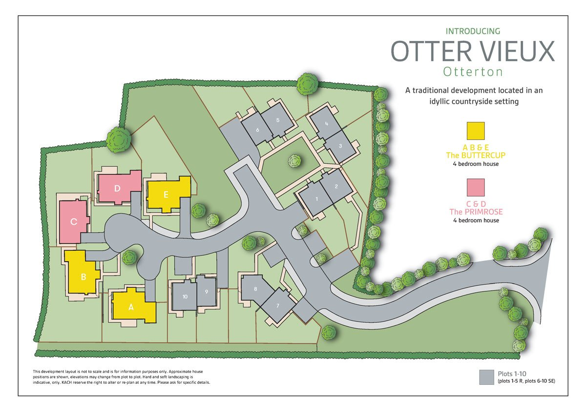 Otter Vieux New Homes Development - Site Layout