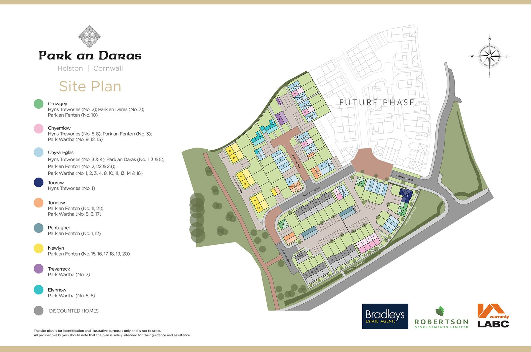 Park an Daras New Homes Development - Site Layout