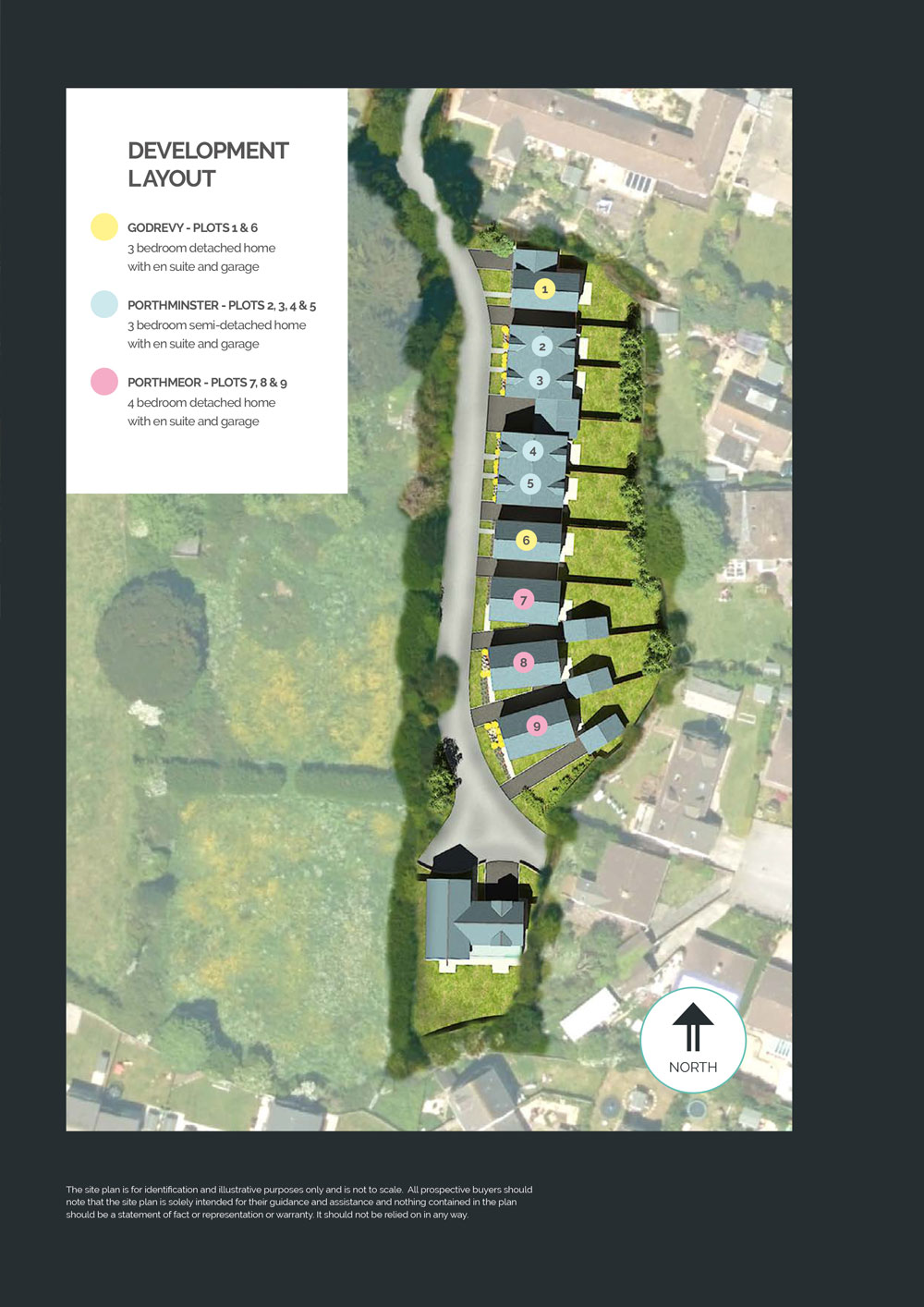 Poltreen Mews New Homes Development - Site Layout