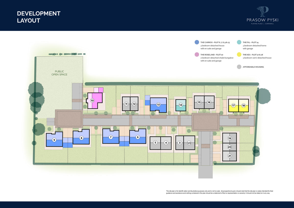 Prasow Pyski New Homes Development - Site Layout