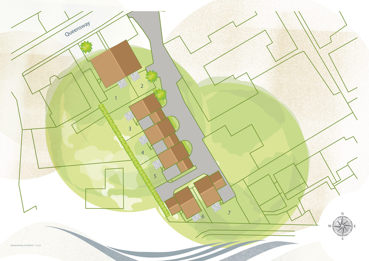 Queensway Gardens New Homes Development - Site Layout
