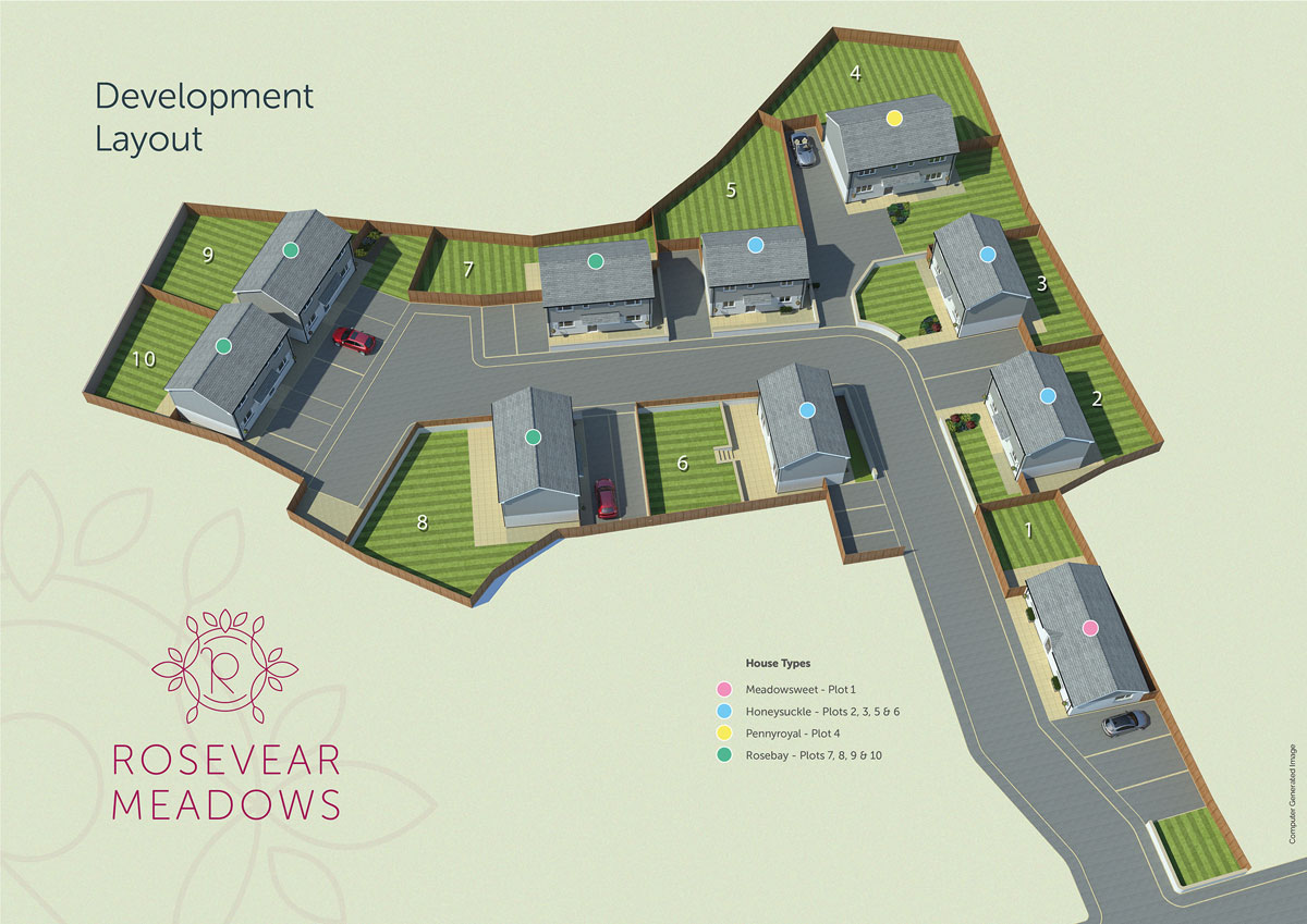 Rosevear Meadows New Homes Development - Site Layout