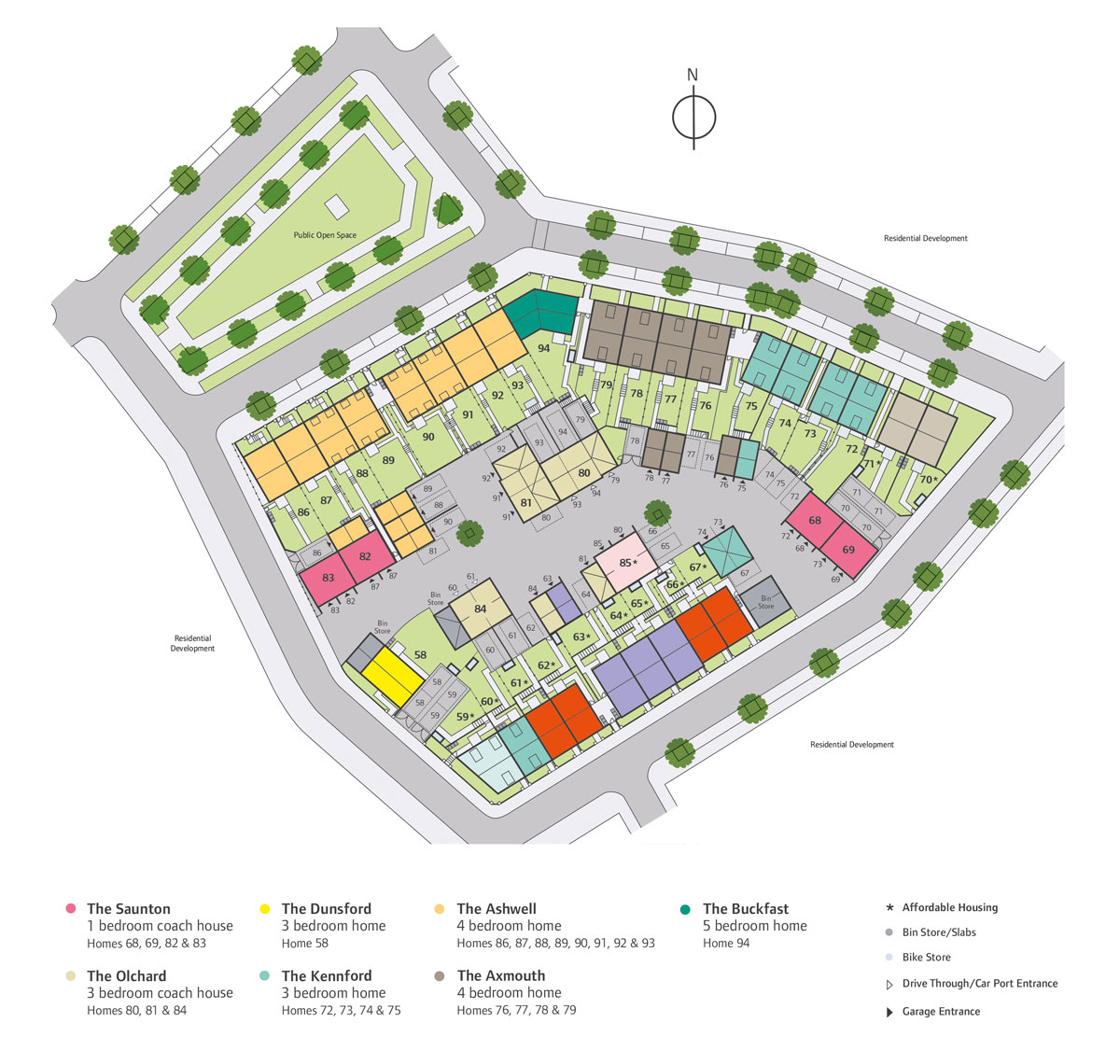 Sherford New Homes Development - Site Layout