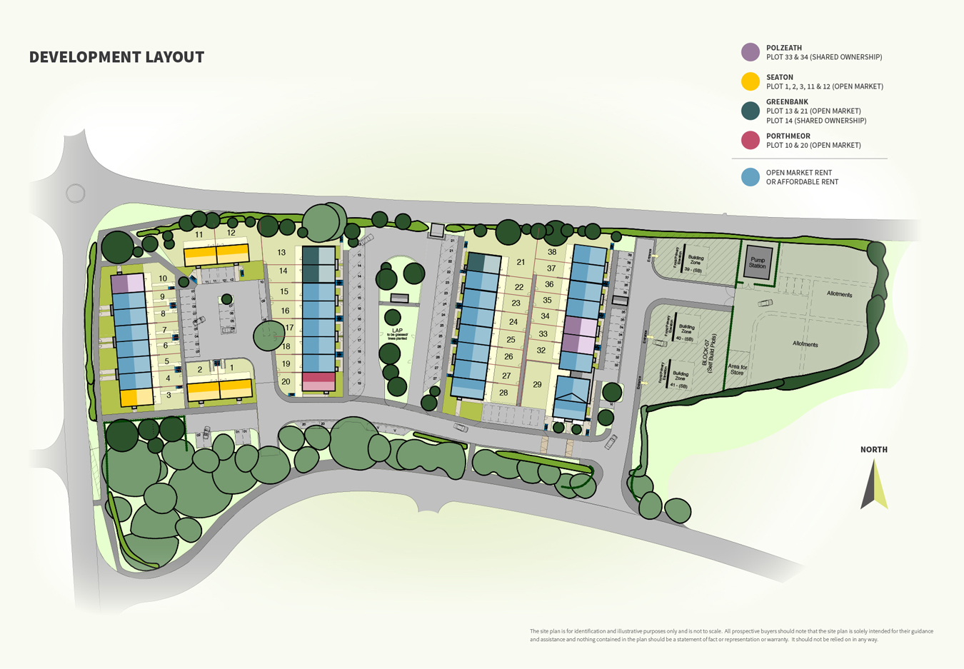 The Coppers New Homes Development - Site Layout