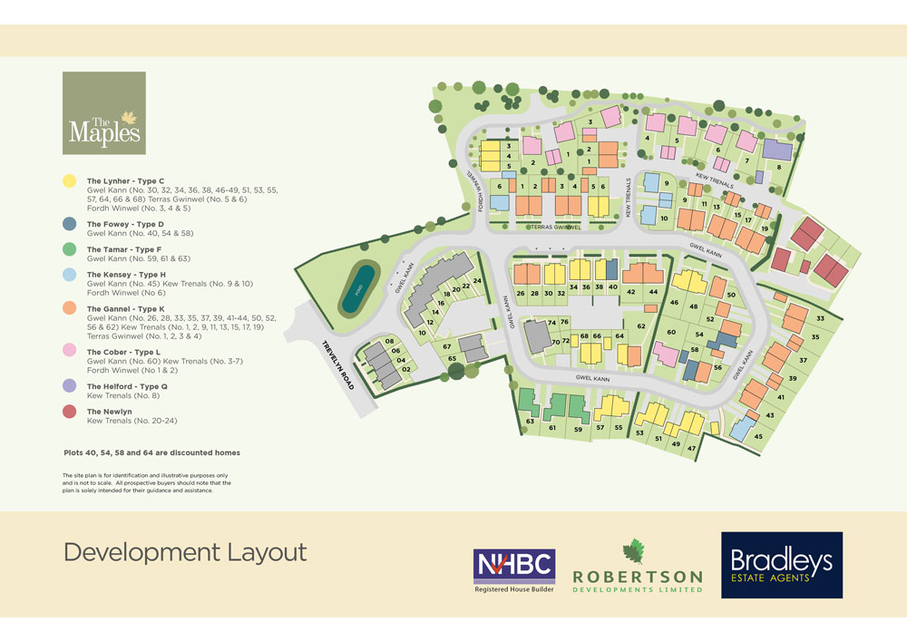The Maples New Homes Development - Site Layout