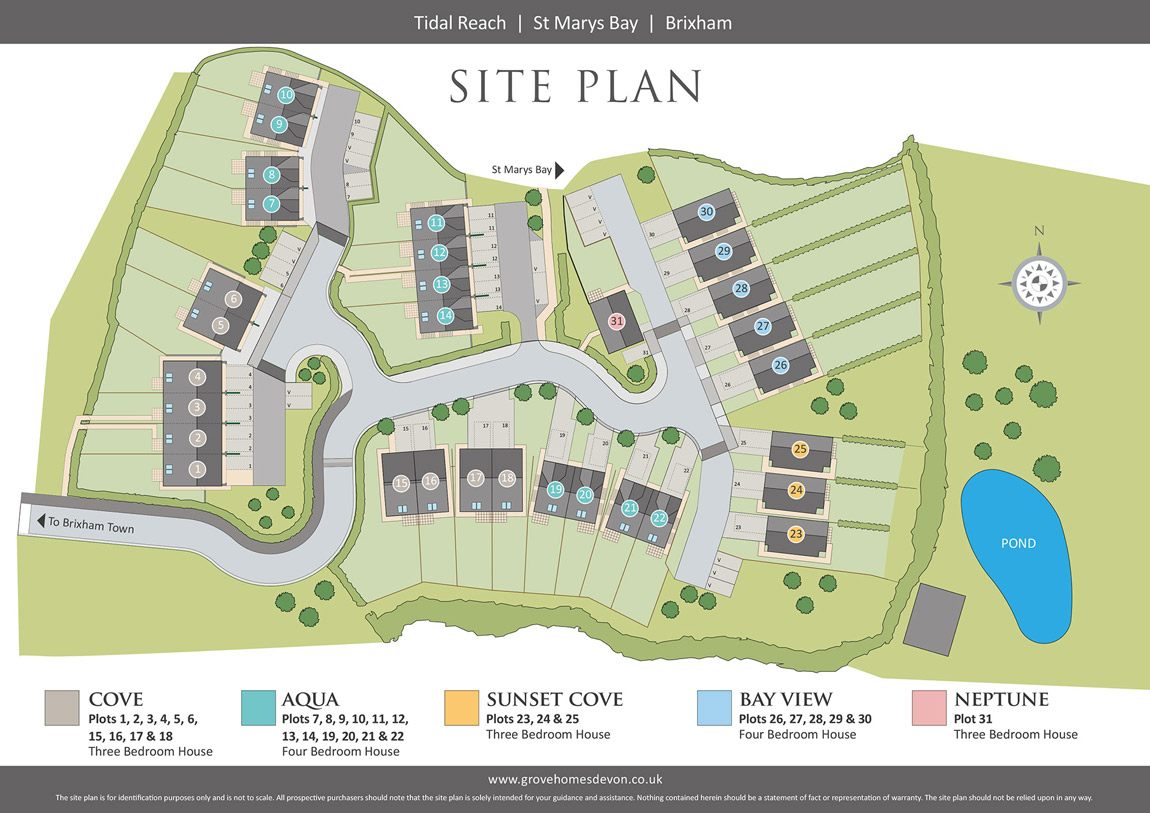 Tidal Reach New Homes Development - Site Layout