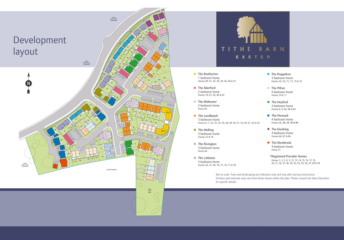 Tithe Barn New Homes Development - Site Layout