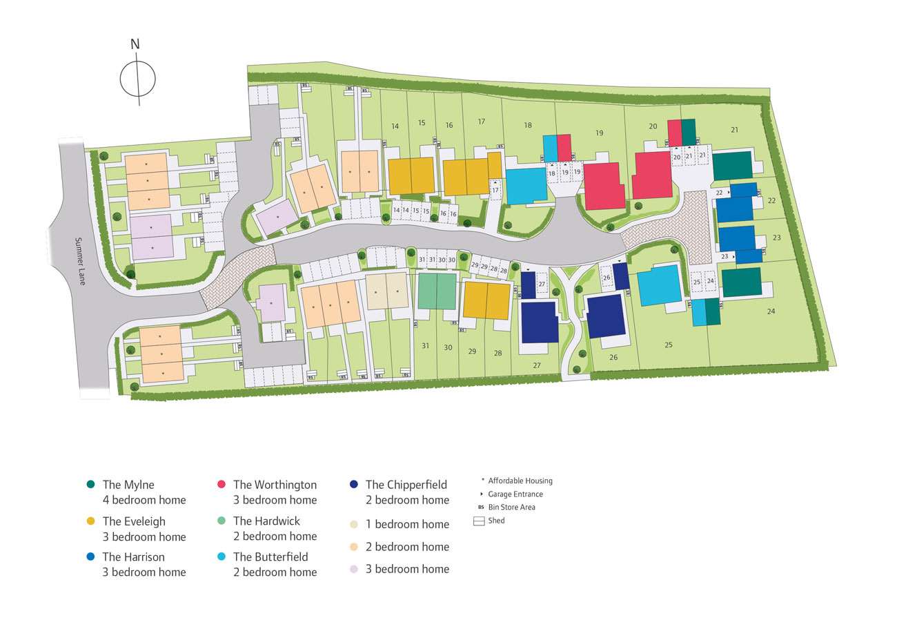 Trelawny Parc New Homes Development - Site Layout