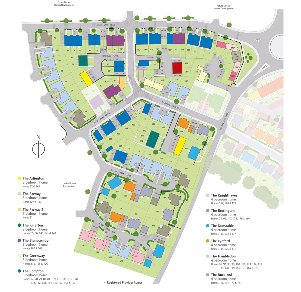 White Rock New Homes Development - Site Layout
